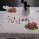 Bruidstaart 40 jaar getrouwd