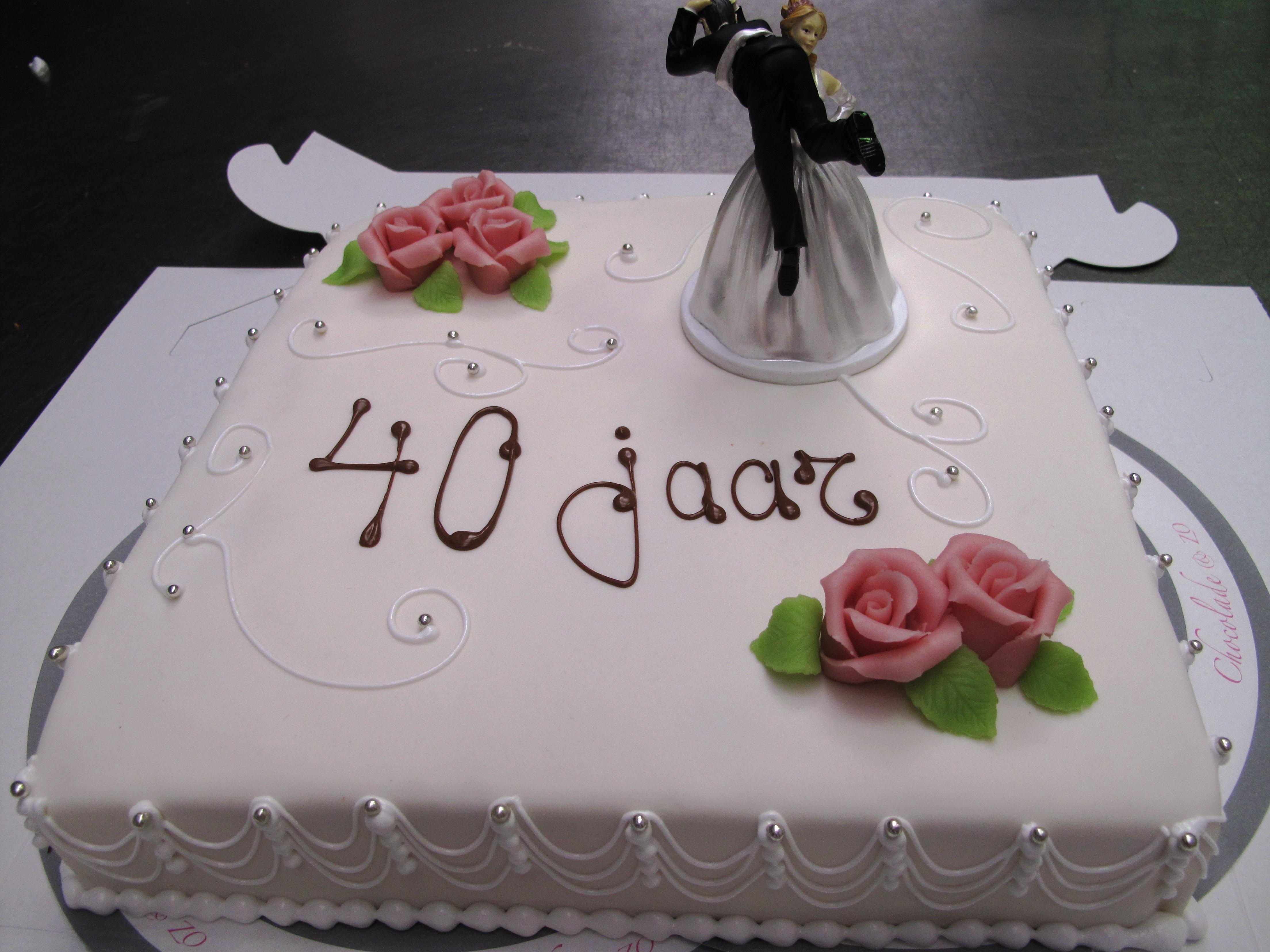 taart 40 jarig huwelijk 76 Jaar Getrouwd   ARCHIDEV taart 40 jarig huwelijk