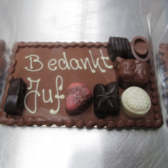 Chocolade bedankje juf