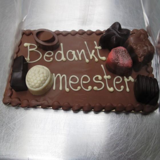 Chocolade bedankje meester