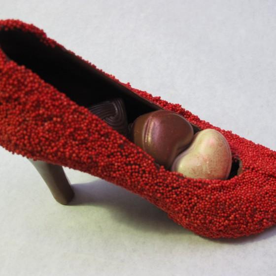 Chocolade pump rood