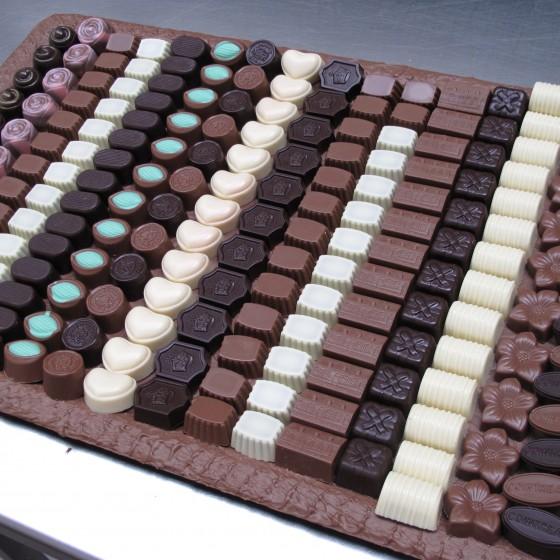 Schaal met bonbons