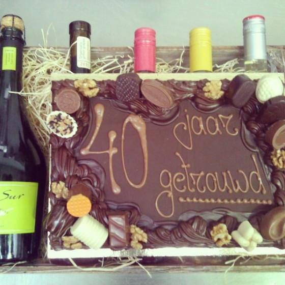 Relatiegeschenk wijnpakket chocolade plateau