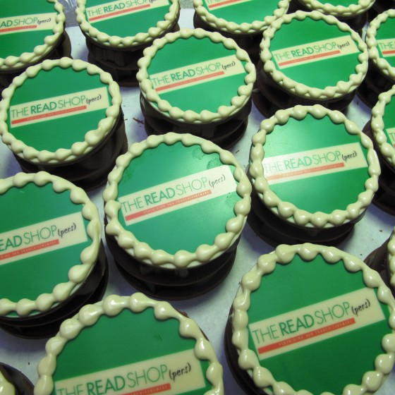 Bonbon taartjes groot logo