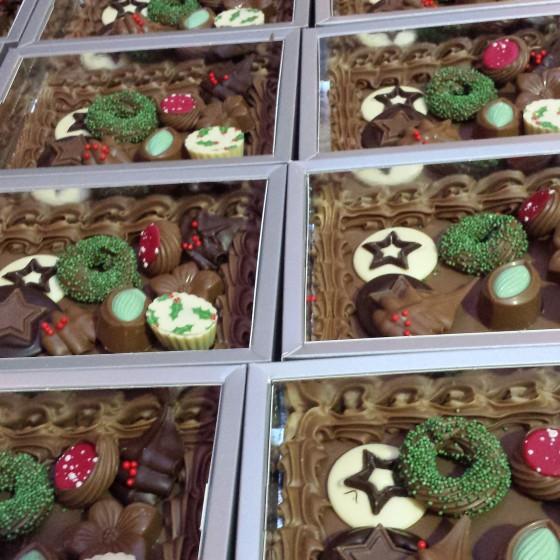 Chocolade plateau kerst