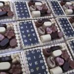 Chocolade plateau logo en bonbons