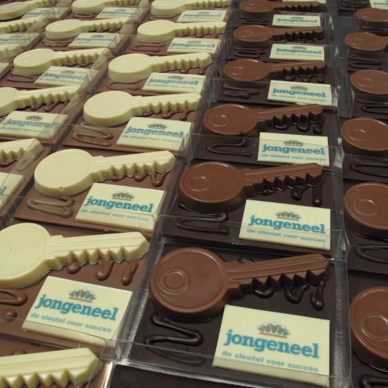 Chocolade plateau logo sleutel