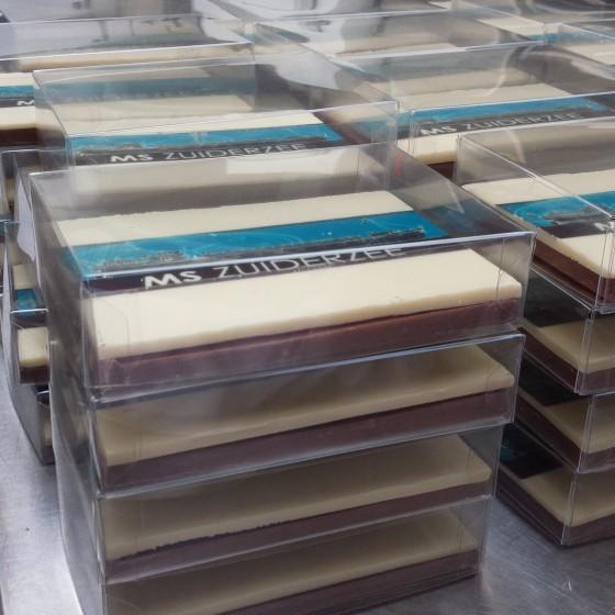 Chocolade plateau met bedrijfslogo2