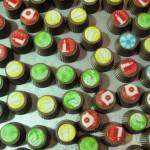 Kerst bonbons kleur