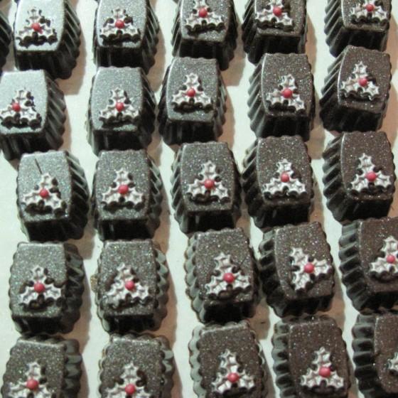 Kerst bonbons zilver