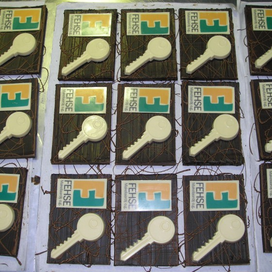 Nieuwe woning chocolade logo