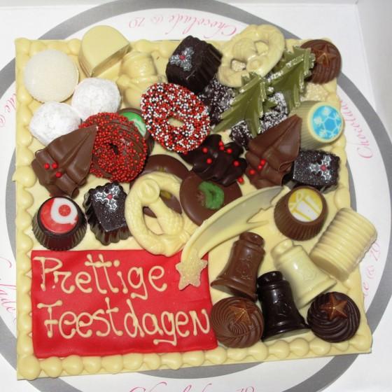 Relatiegeschenk chocolade plateau met bonbons