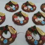 Room chocolade kerstkrans klein 1