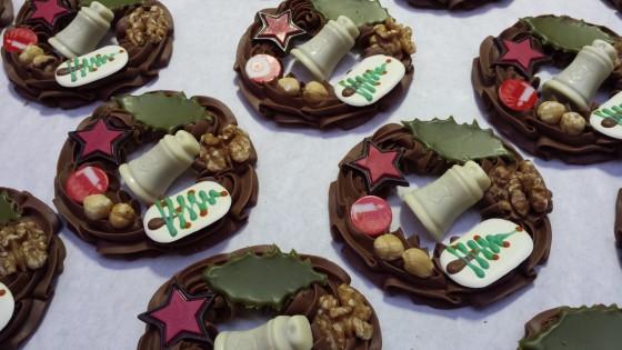 chocolade kerstkrans