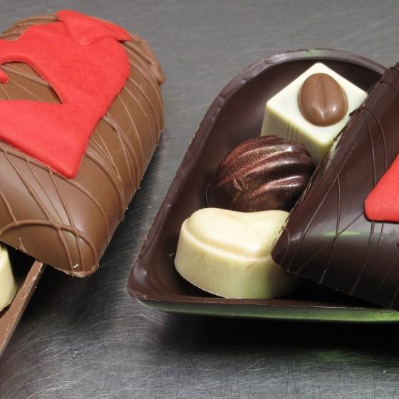 Chocolade hart bonboniere