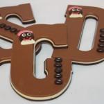chocoladeletter-driekleur