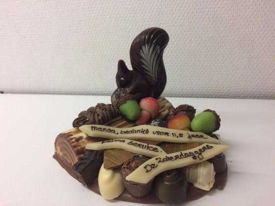 Chocolade stukje herfst
