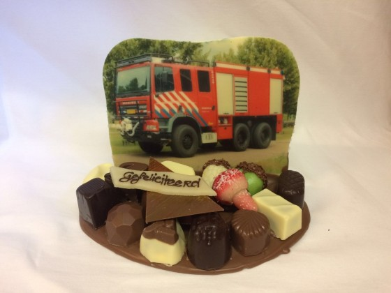 Chocolade stukje brandweer