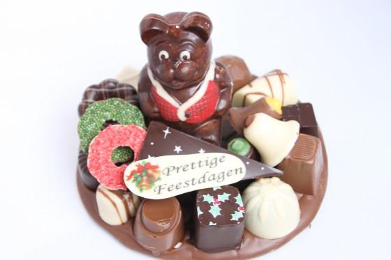 Kerst chocolade plateau rond