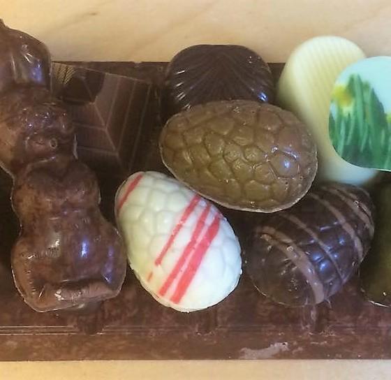 Chocolade paas plateau